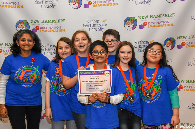 2nd place. 130-56507- Ernest P Barka Elementary School- Derry- 7 Gods of DI- Elementary- On Target- Technical Challenge,