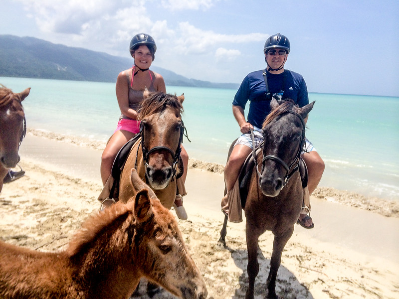 Horseback riding excursion near a beautiful and untouched beach