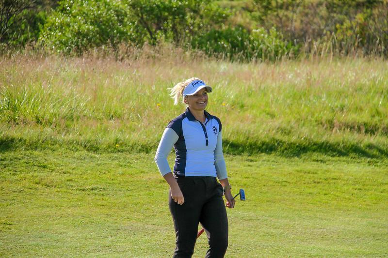 Nína Björk Geirsdóttir.  slandsmót golf 2019 Grafarholt - 1. keppnisdagur. Mynd: seth@golf.is