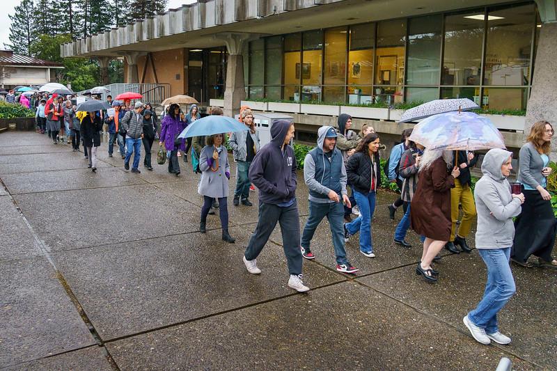 Demonstration in the Rain