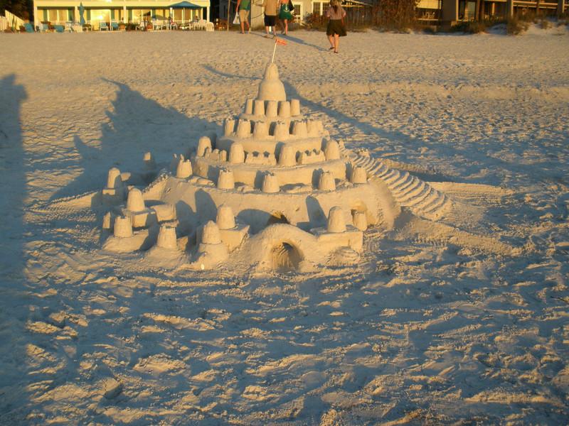 Sand castle on Indian Rocks beach