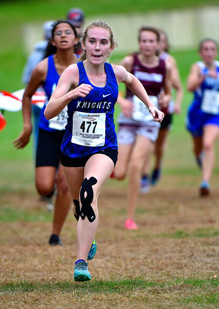 10/16/2019 Mike Orazzi | StaffrSouthington High School's Emily Moskal during the girls CCC XC Championship held at Wickham Park in Manchester on Wednesday. r