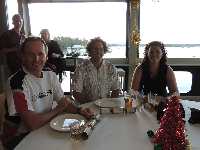 3rd Annual Combat Karate Christmas Party & Awards Noosa 2012 - Russel, Troy & Kerrie,