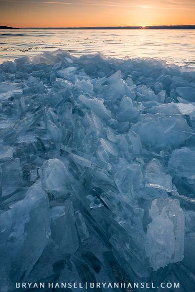 Superior Ice at Sunrise
