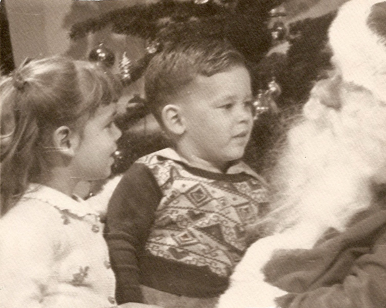 Noreen and Ed with Santa            1948?