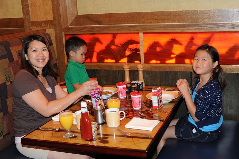 Breakfast at Storyteller's Cafe in the Grand Californian Hotel