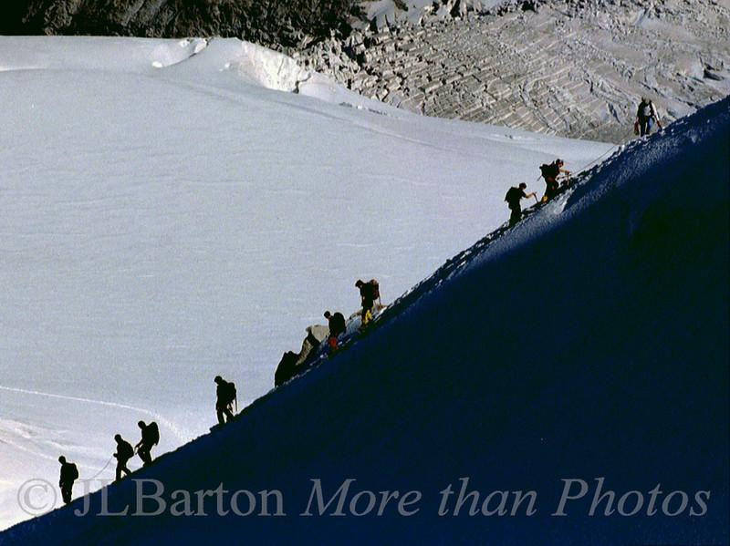 Climbing Mt. Blanc