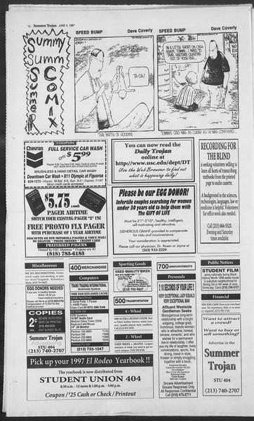Summer Trojan, Vol. 131, No. 4, June 04, 1997