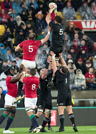 Samuel Whitelock  during game 9 of the British and Irish Lions 2017 Tour of New Zealand, the second Test match between  The All Blacks and British and Irish Lions, Westpac Stadium, Wellington, Saturday 1st July 2017 (Photo by Kevin Booth Steve Haag Sports)  Images for social media must have consent from Steve Haag