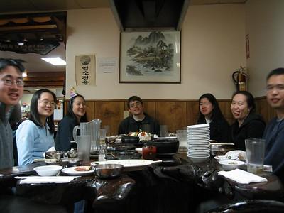 Melissa Lin's Koryo BBQ B-day lunch, 12-28-2002