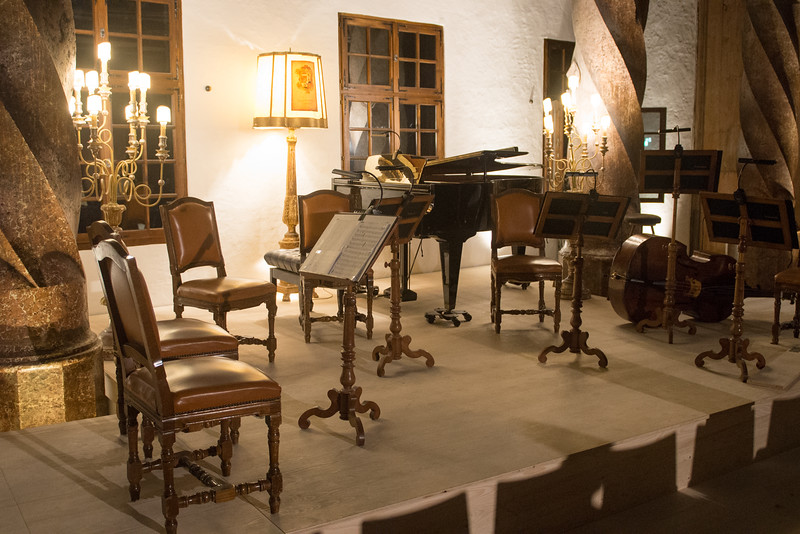 we saw a string ensemble perform on this stage inside the hohensalzburg fortress - it was great.