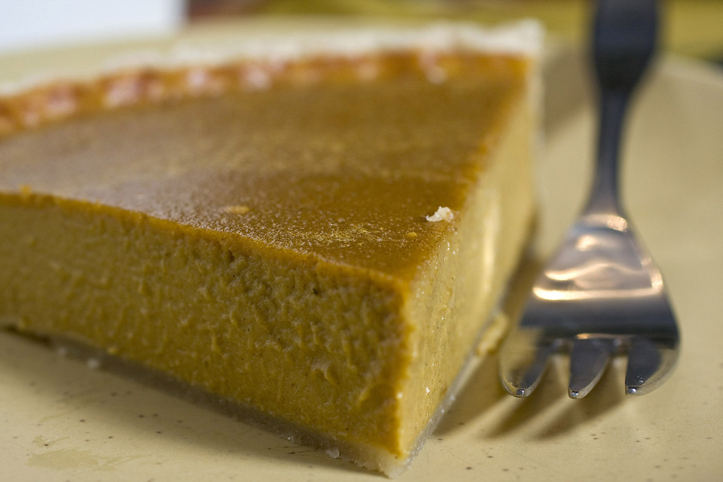 """. <a href=\""""http://journaltimes.com/lifestyles/food-and-cooking/recipes/the-best-pumpkin-pie-canned-pumpkin-and-a-blender-make/article_7170c40e-26a0-5bc9-9f96-f76716a64411.html\"""">Get the recipe for the Best Pumpkin Pie</a>. A warm and dry knife helps slice the fully cooled pie cleanly. (AP Photo/Larry Crowe)"""