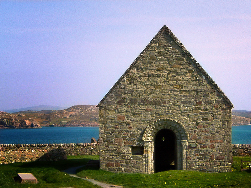 The ruins of an abbey on the Isle of Iona, Scotland.  One of the most mystical places in Scotland.