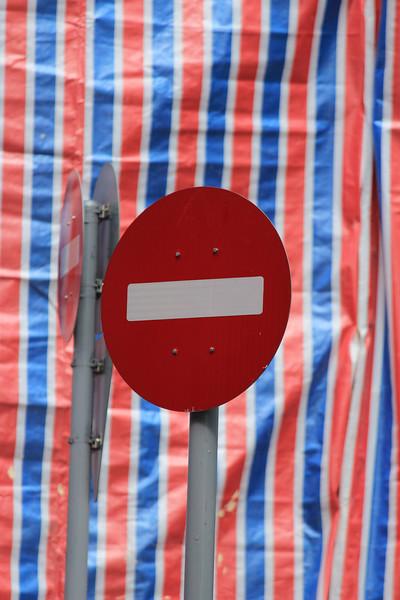 Do Not Enter Sign, Crazy Clarks Bag Background, Macau