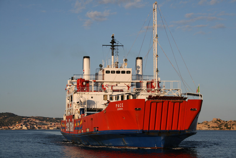 2008 - F/B PACE sailing from La Maddalena to Palau