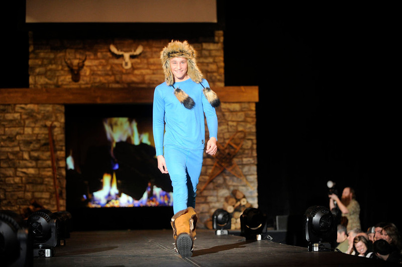 . The Polarmax gear with Malibu cowboy boots and Screamer Santa Fe Trapper hat, as the SIA Snow Show hosted its 2013 Snow Fashion & Trends Show at the Colorado Convention Center  in downtown Denver  on Wednesday, January 30, 2013.  (Photo By Cyrus McCrimmon / The Denver Post)