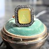 'Faithful & Firm' Yellow Chalcedony Ring, by Seal & Scribe 42