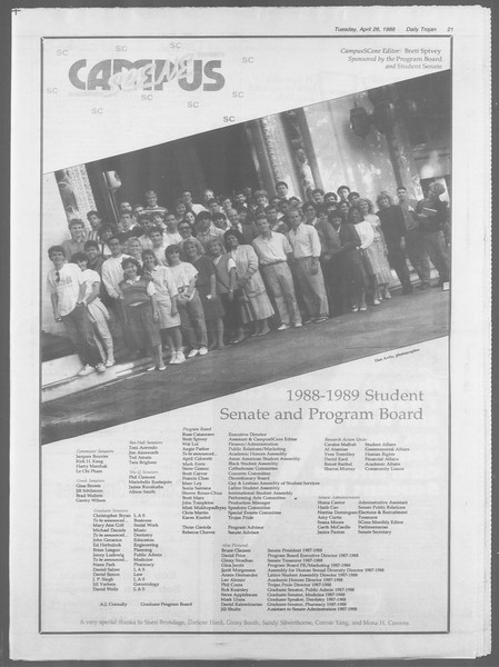 Daily Trojan, Vol. 106, No. 68, April 26, 1988