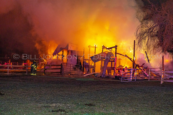 Barn Fire - 79 Diddell Rd. - New Hackensack Fire District - 11/26/2019