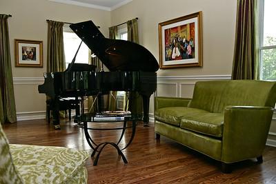Stylish Suburban Music Room