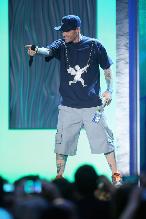 . Rapper Vanilla Ice performs onstage at the 3rd Annual Streamy Awards at Hollywood Palladium on February 17, 2013 in Hollywood, California.  (Photo by Frederick M. Brown/Getty Images)