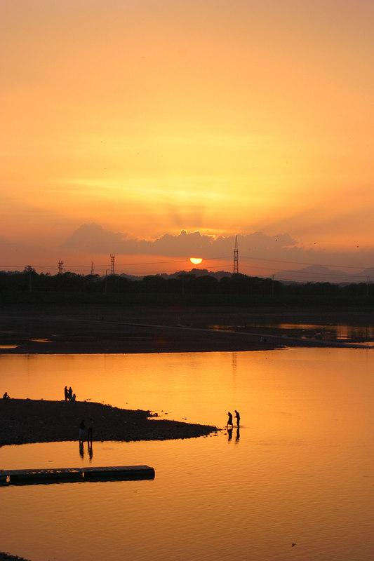 Sunset at Rawal Lake.