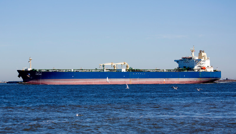 A BIG tanker, the Umlma -- 57,000 tons