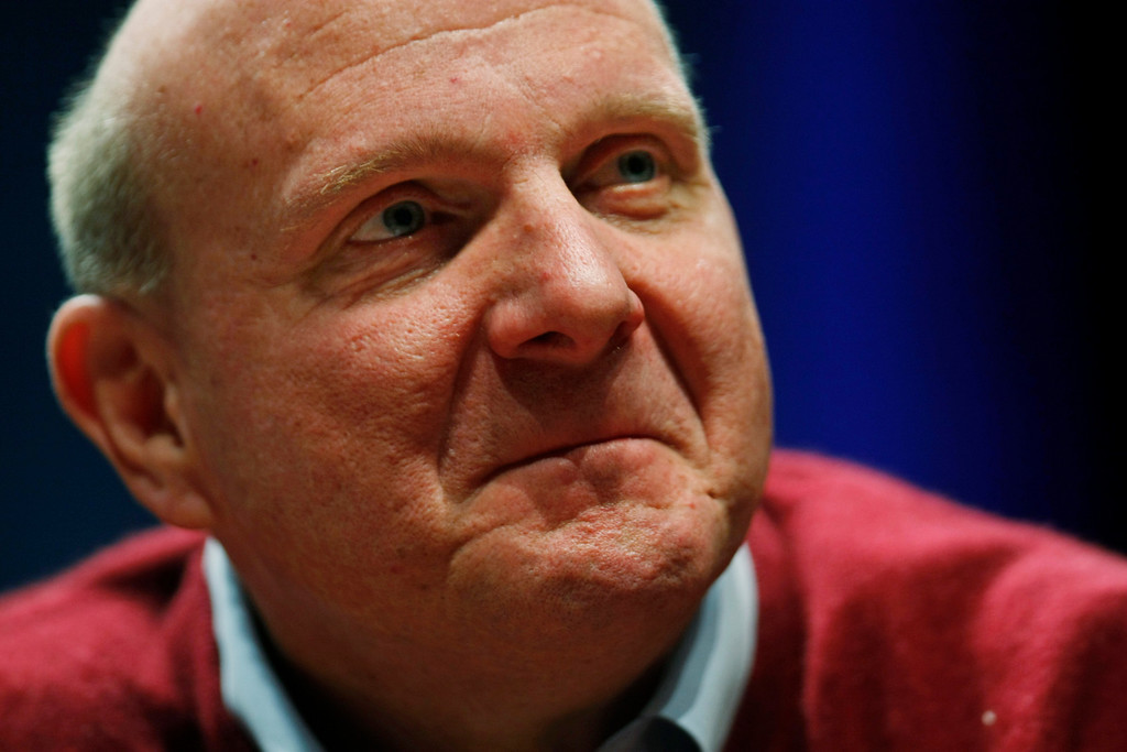 . Microsoft Corp. CEO Steve Ballmer speaks in Santa Clara, Calif., Tuesday, March 2, 2010.  (AP Photo/Paul Sakuma)