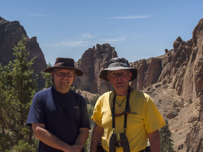 Roger and Roger Sr at Smith Rock Park