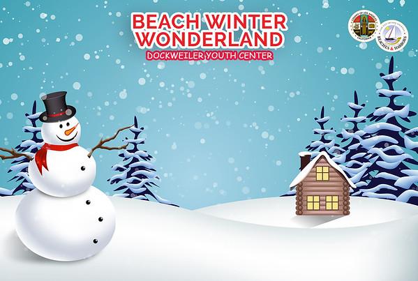 Beach Winter Wonderland Backdrop Samples
