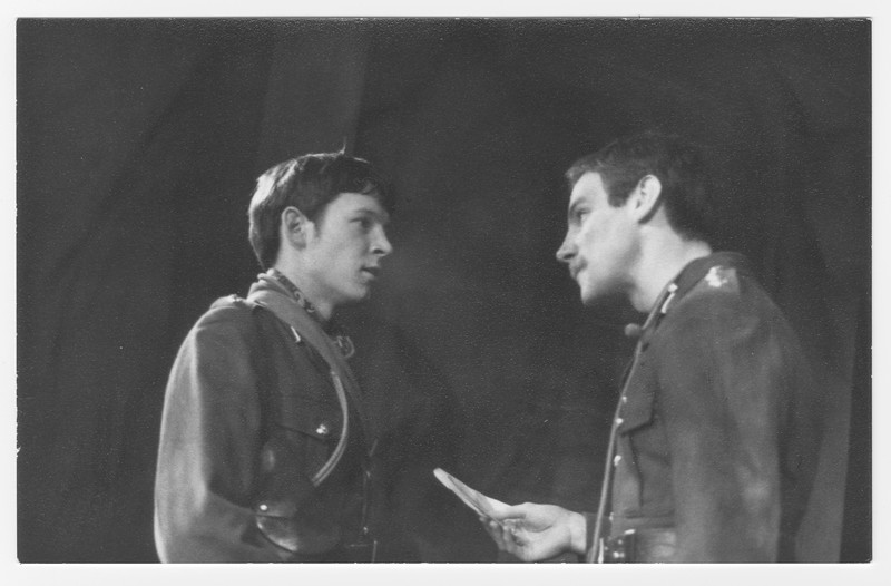 Ed Nally and Nick Frost in 'Journey's End', 1975