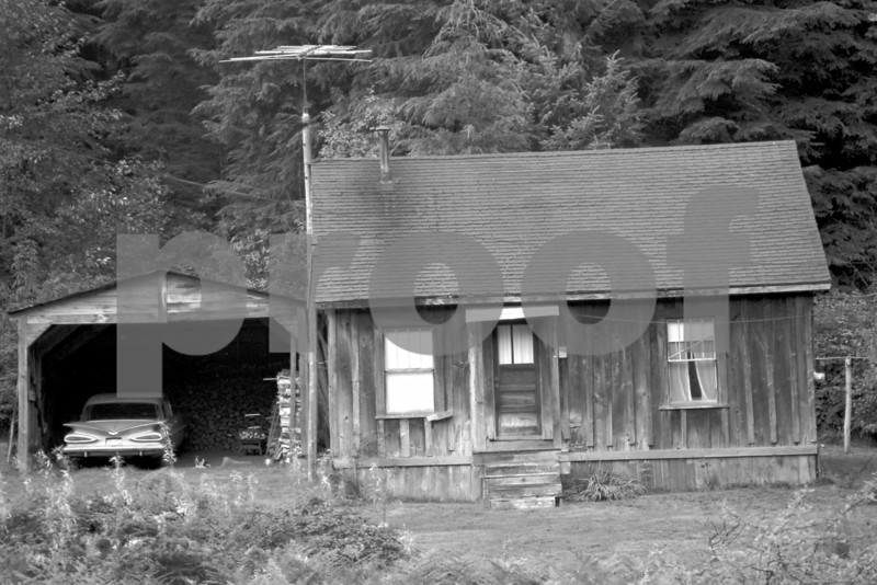 1959 Chevy and house near Artic, WA. Photo taken in 1972.