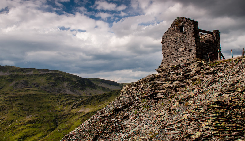 Croesor Quarry ruins in Wales
