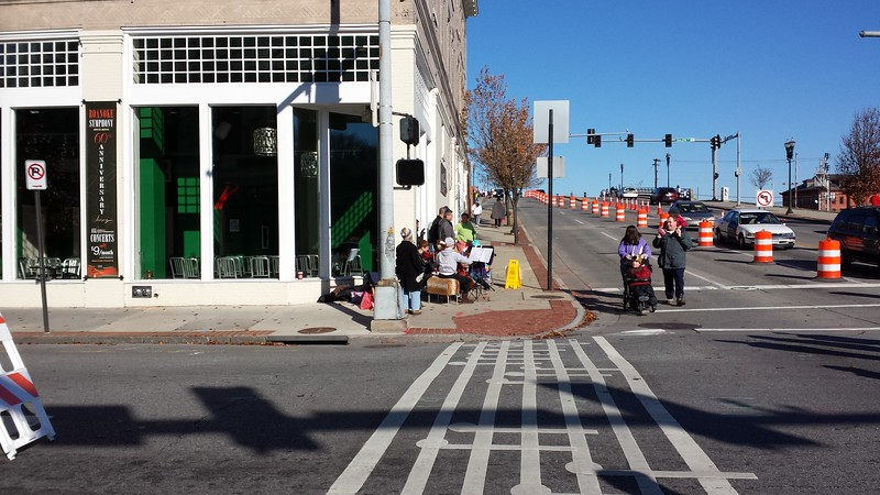 Crosswalk outside the offices of the Roanoke Symphony Orchestra (more info)