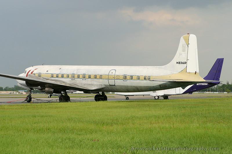 N836D. Douglas DC-7B. Untitled. Opa Locka. 270904.