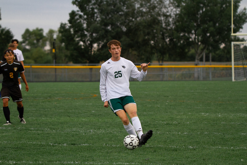 Holy Family Boys Varsity Soccer vs. Hutchinson, 9/26/19: Gavin Lund '21 (25)