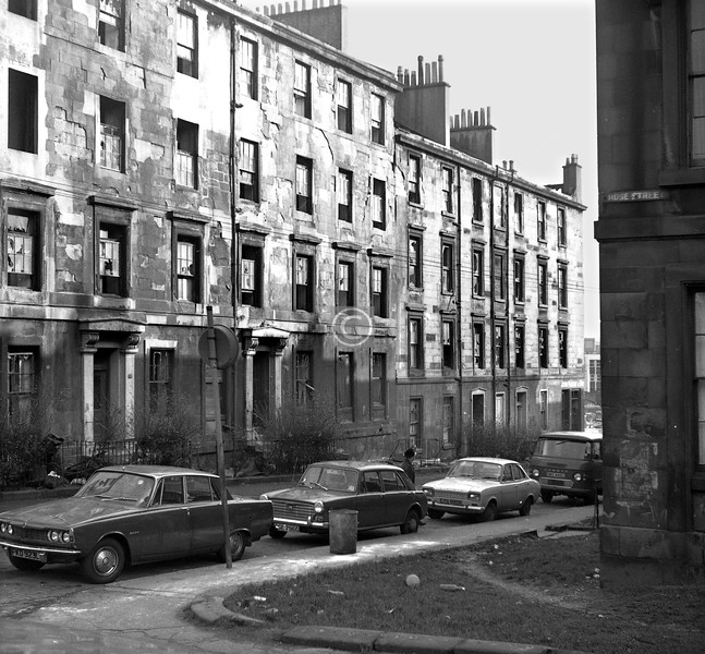 Buccleuch St., north side east of Rose St.   March 1974
