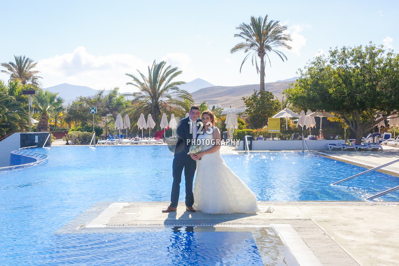 Carrie and Brian's Lanzarote Wedding Photography Costa Calero Hotel