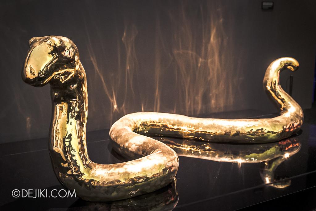 Bulgari SERPENTIform exhibition at ArtScience Museum - Golden Serpent