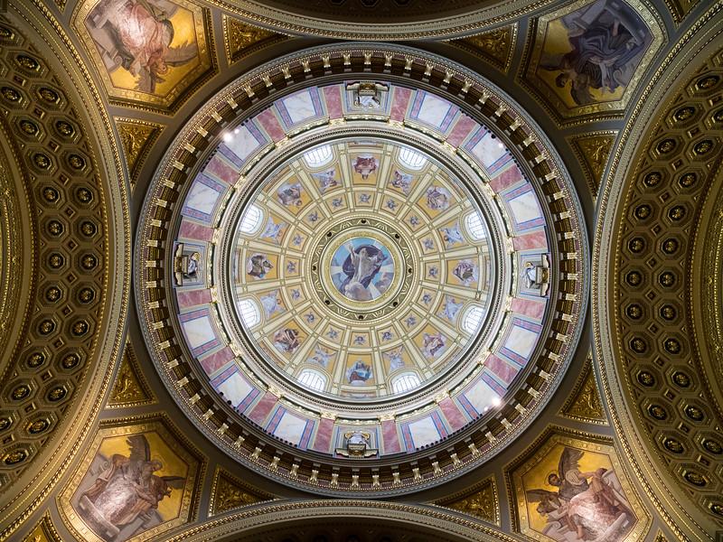 The Dome of Szent Istvánbazilika in Budapest, Hungary