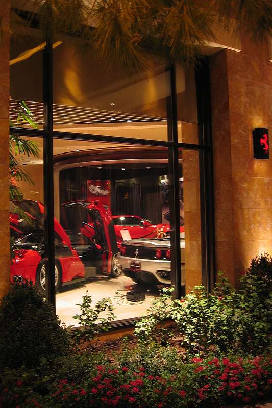 The Wynn has a Ferrari dealership but it was closed when we visited.
