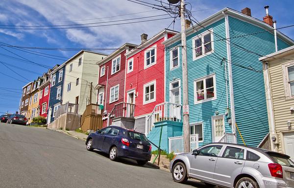a tilted street, St. John's, Newfoundland