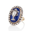 2.04ctw Georgian Urn Motif Diamond and Enamel Ring 1