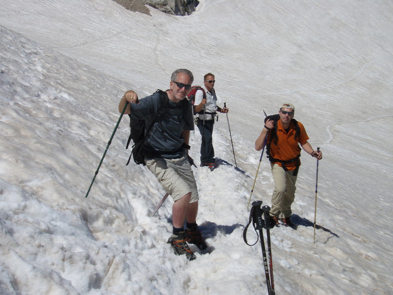 On the glacier of Pico Aneto with Edward, Alfred and Albert