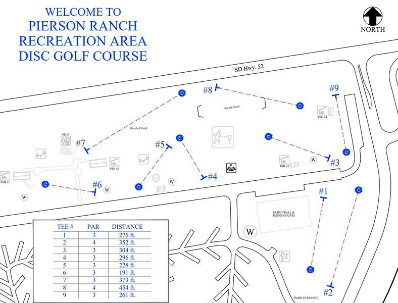 Pierson Ranch Recreation Area (Disk Golf Course Map)