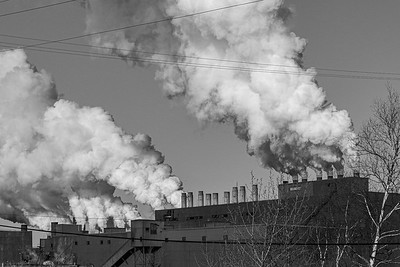 2021 04 01: Smoke Stacks, Cliffs Taconite, Silver Bay, MN