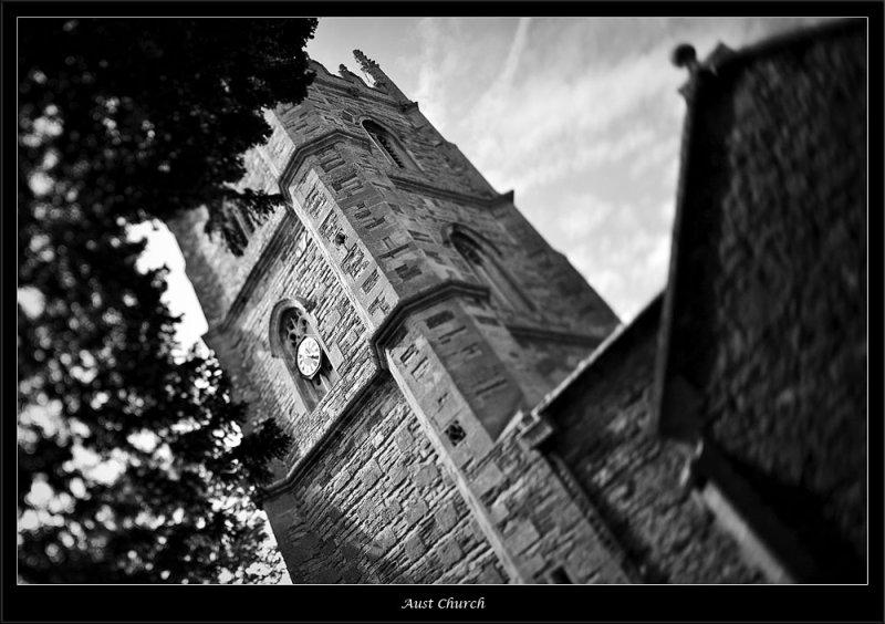 Church tower in the village of Aust Bristol (81016816).jpg