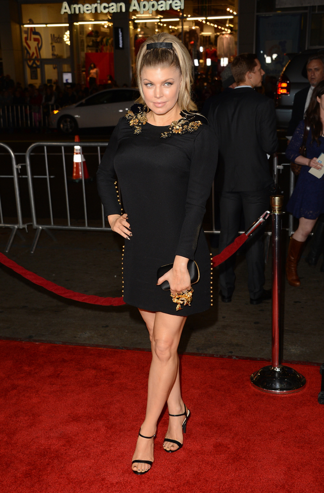 . Singer Fergie arrives at the premiere of Relativity Media\'s \'Safe Haven\' at TCL Chinese Theatre on February 5, 2013 in Hollywood, California.  (Photo by Jason Merritt/Getty Images)