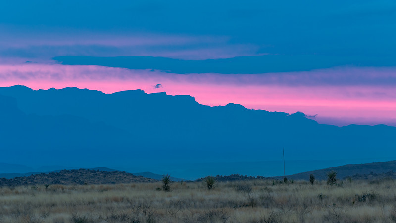 Pink Sunrise over Mexico Mountians
