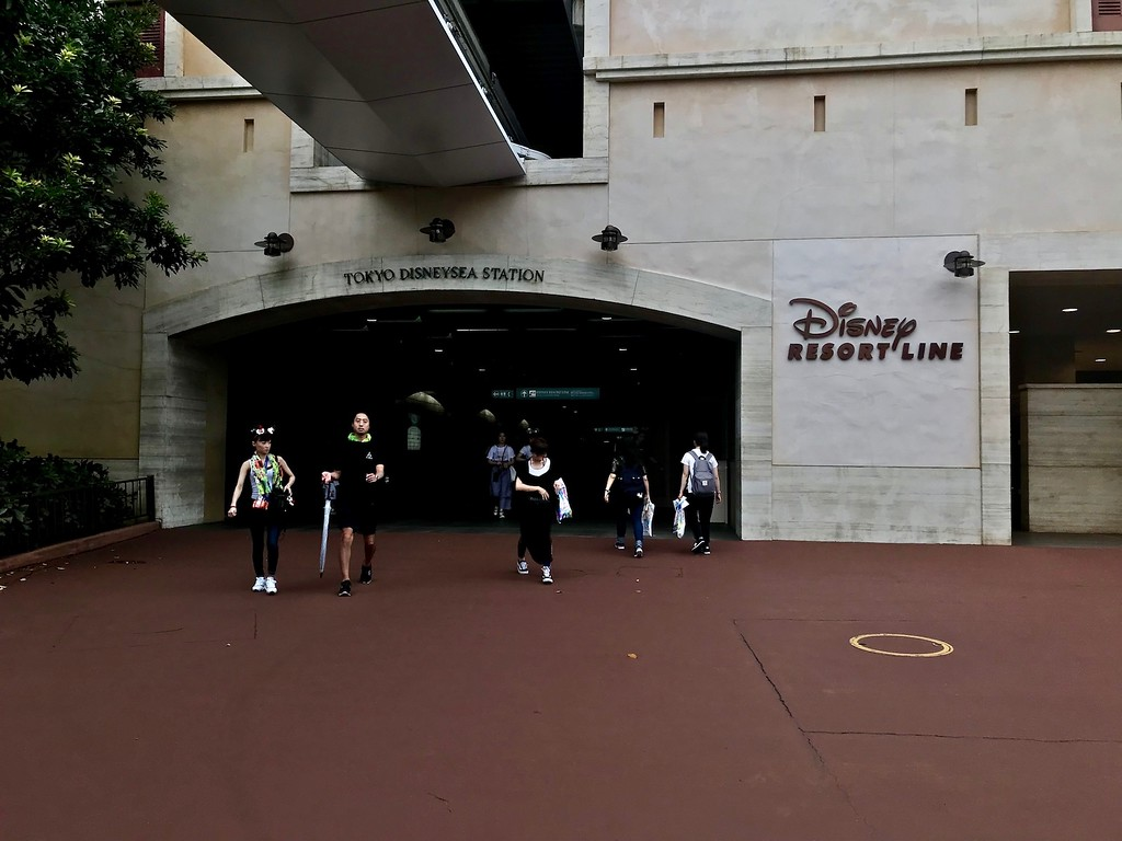 The exit at Tokyo DisneySea Station.